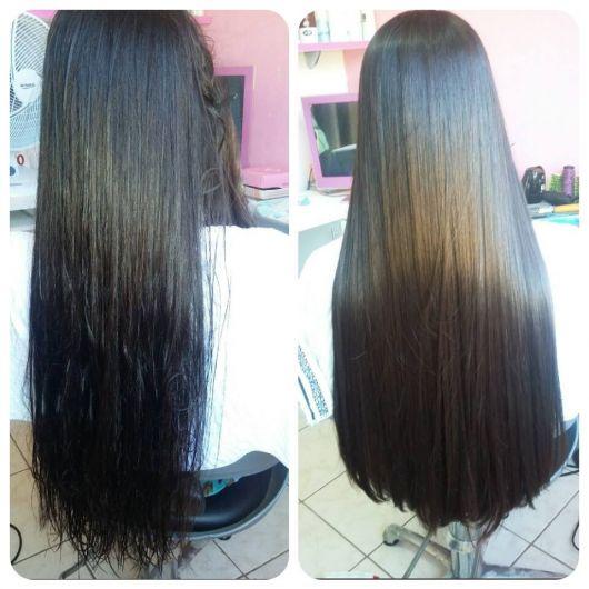 cabelo comprido alisado
