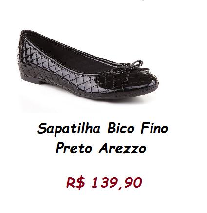 Modelo de sapatilha preta com tope, pelo preço de 139,90 no site black white store.