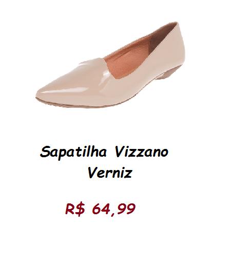 Modelo de sapatilha verniz na cor bege pelo prelo de 64,99 na loja tricae.