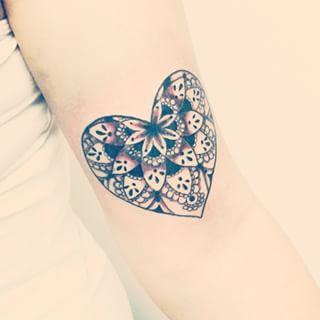 mandala de coração