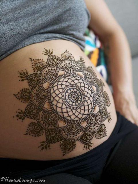 tatuagem barriga grávida