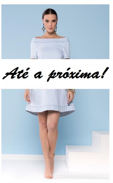 """Ilustração final do post, com mulher ao fundo de vestido azul bem claro e dize """"até a próxima!"""""""