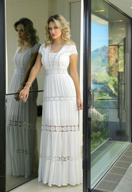 241b32168 Vestidos Evangélicos  76 inspirações lindas e dicas de modelos baratos!