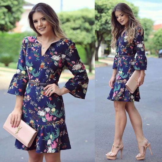 c8710e6a6 As vezes a produção diária pede um visual mais arrumadinho, e dá para fazer  isso com um modelo de vestido floral.