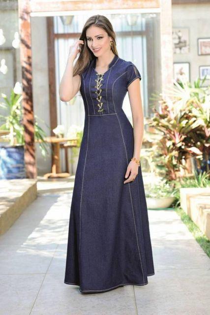 Vestidos Evangélicos  76 inspirações lindas e dicas de modelos baratos! d08362438c832