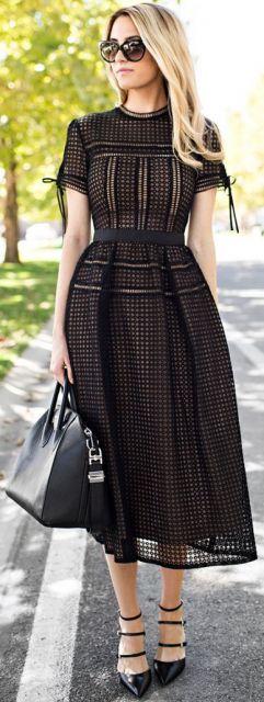 vestido preto dia