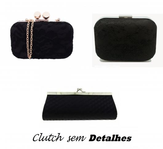 Ilustração de bolsas de festa na cor preta sem detalhes.
