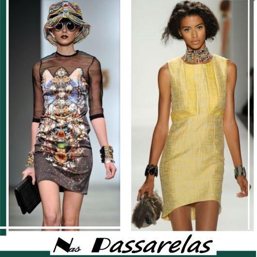 Montagem de modelos com bolsas de festa.