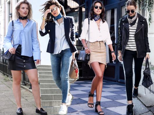 modelos vestem looks casuais com calças e saias e blusa, jaquetas básicas em cores sóbrias (azul,branco e listras)