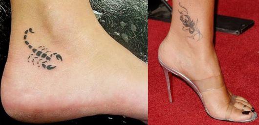 tatuagens de escorpiões no calcanhar