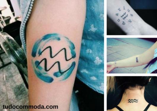 tatuagens do signo de áquario