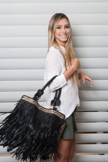 Bolsa De Franja Preta Como Usar : Como usar bolsa de franja modelos inspira?es
