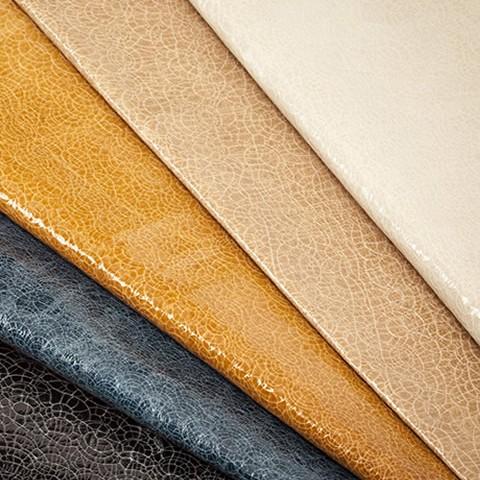 Ilustração com tecidos de couro.