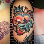 Tatuagem de Coração no Ombro: 25 Ideias para se Inspirar