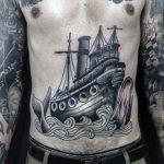 Tatuagem masculina na barriga: 20 ideias incríveis para se inspirar