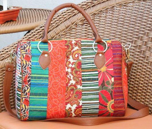 Bolsa De Tecido Com Alça De Couro : Modelos incr?veis de bolsa tecido como fazer em casa