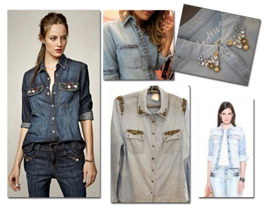 14115119cf Como Customizar Jaqueta Jeans – 43 Ideias Incríveis   Tutoriais Simples!