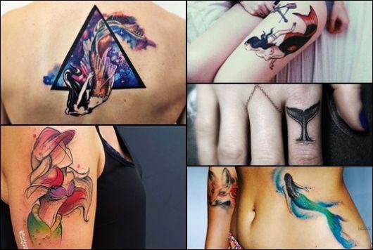 Tatuagem de Sereia: Significado & 40 Ideias Incríveis para se Inspirar!