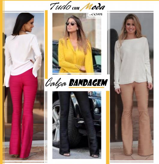 Calça Bandagem Flare – Como Usar e Combinar & 45 Looks Incríveis!