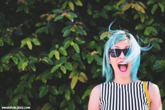 cabelo azul anilina