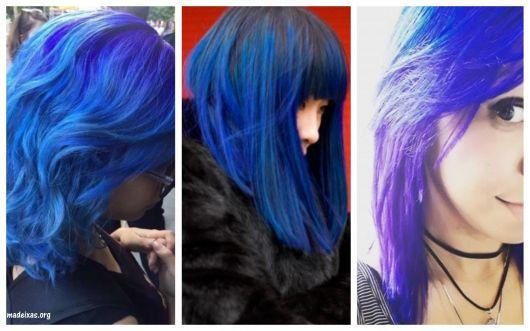cabelo violeta genciana