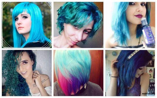 tinta azul cabelo