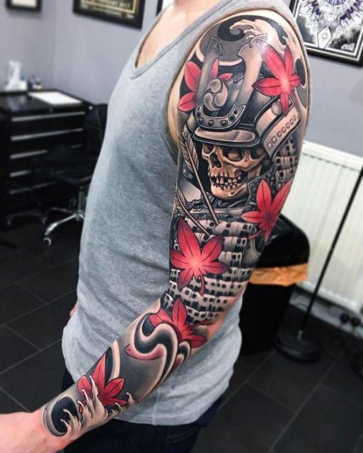 Japanese Tattoo Wallpapers: Tatuagem De Samurai: Significado & 30 Inspirações Incríveis