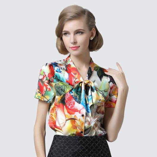 57bd2f5f9 Blusa de Seda – 45 Modelos e Looks Chiquérrimos   Dicas Infalíveis!