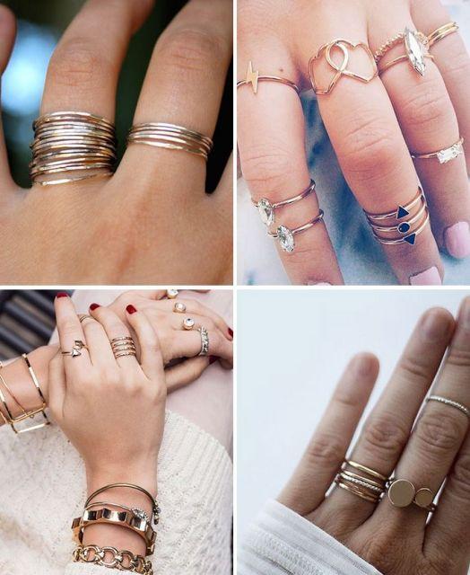 Modelos de anéis falange delicados.