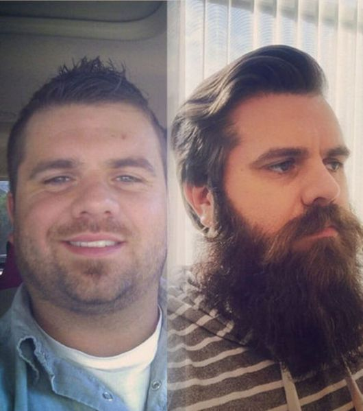barba lenhador antes depois