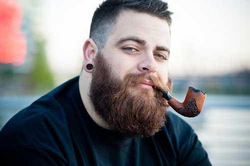 Barba cheia e com um ótimo aspecto!