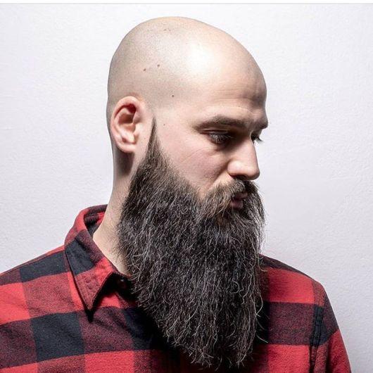 barba lenhador em carecas