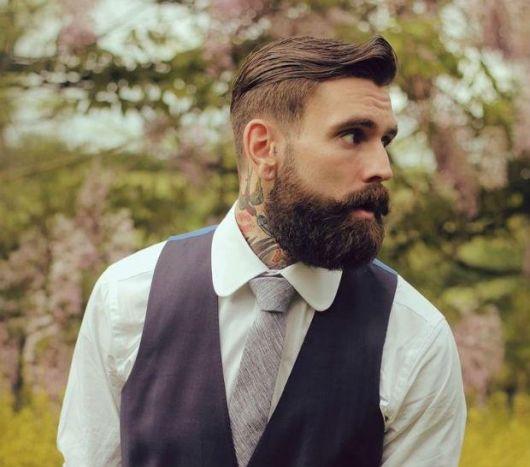 barba lenhador degrade