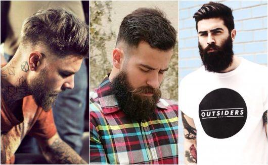 Barba lenhador homens que usam