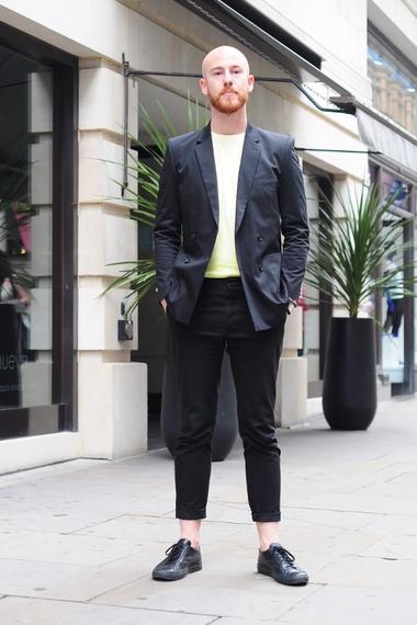 calça cropped masculina alfaitaria
