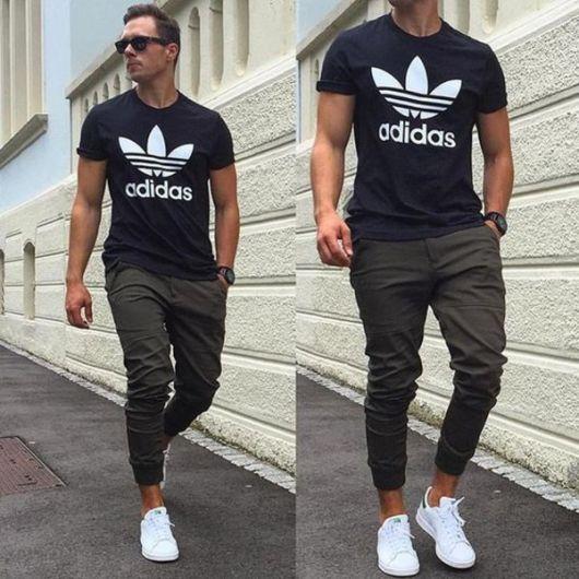 calça cropped masculina moderna