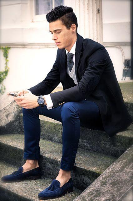 calça cropped masculina e terno