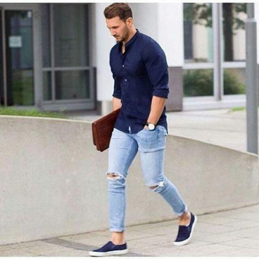 calça cropped masculina jeans