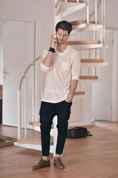 calça cropped masculina sarja