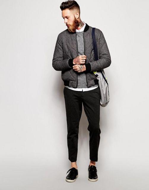 calça cropped masculina sarja como usar