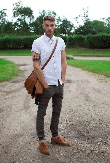 calça cropped masculina sarja ideias