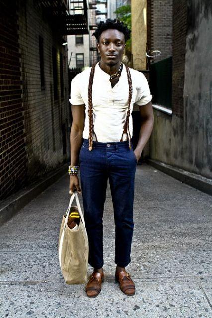 calça cropped masculina social