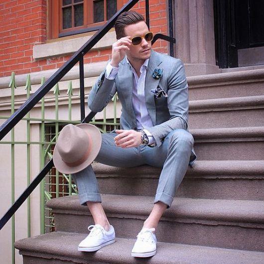 calça cropped masculina social com tênis