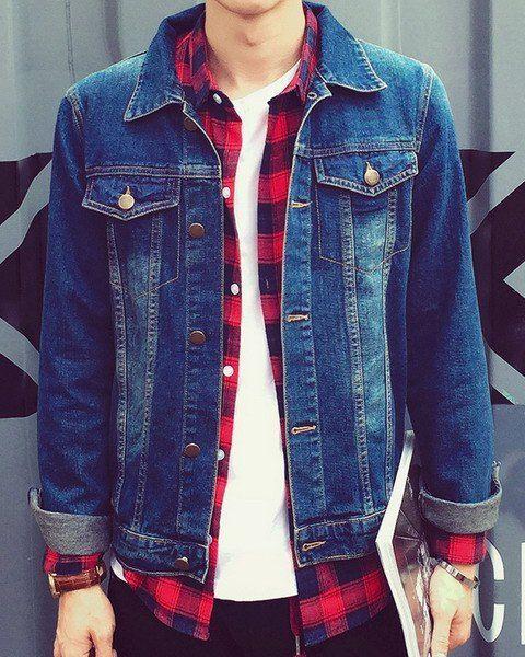Mens Red Checkered Shirt