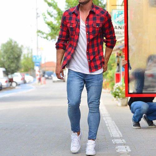 Qual seu estilo (roupa)? Camisa-xadrez-vermelha-masculina-2