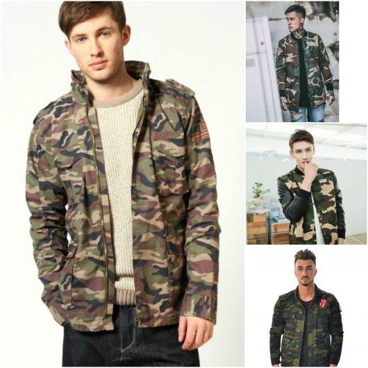jaqueta camuflada masculina