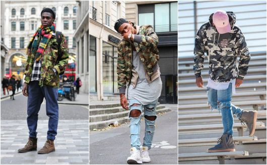jaqueta camuflada swag