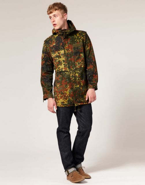 jaqueta camuflada