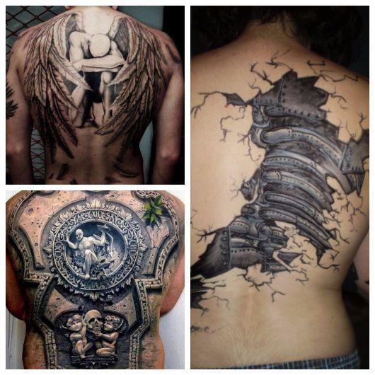 tatuagem 3d costas