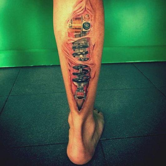 tatuagem 3d amortecedor